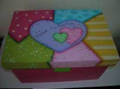 Resultado de imagen para cajas pintadas #pinturadecorativatecnica