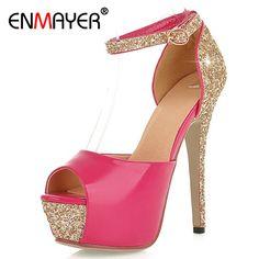 ENMAER New 5 Colors Size 34-39 Sexy High Heels Platform Shoes Pumps Women's Dress Fashion Wedding Shoes Lady Pump Summer Shoes #Pump shoes http://www.ku-ki-shop.com/shop/pump-shoes/enmaer-new-5-colors-size-34-39-sexy-high-heels-platform-shoes-pumps-women-s-dress-fashion-wedding-shoes-lady-pump-summer-shoes/