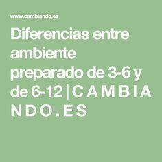 Diferencias entre ambiente preparado de 3-6 y de 6-12 | C A M B I A N D O . E S