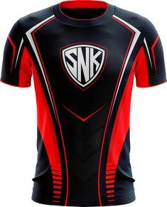 SnK Esports Pro Gaming Jersey – Next Generation Clothing Sport Shirt Design, T Shirt Sport, Shirt Print Design, Shirt Designs, Jersey Designs, Rugby Jersey Design, Custom T Shirt Printing, Sports Uniforms, Shirt Template