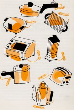 Betty Crocker's Outdoor Cook Book illustrated by Tom Funk (1961).