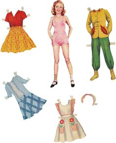 Paper Doll 15 Vintage Digital Collage Sheet by by cachecache