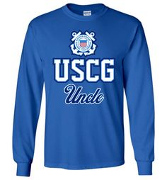 USCG Coast Guard Uncle Long-Sleeve T-Shirt