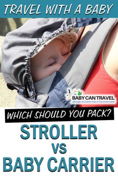 Stroller vs Baby Carrier - which is the best choice for travel with a baby. We cover everything in this detailed post that reviews baby wearing vs stroller for travel. We give tips for flying with a baby, travel with a baby to warm or cold climates, when you can leave your stroller behind and SO MUCH MORE! Click to read more on whether you should travel with a stroller or baby carrier. SAVE this post for the future! Travel Car Seat, Travel Stroller, Stroller Cover, Toddler Travel Activities, Airplane Activities, Traveling With Baby, Traveling By Yourself, Baby Hiking, Flying With A Baby