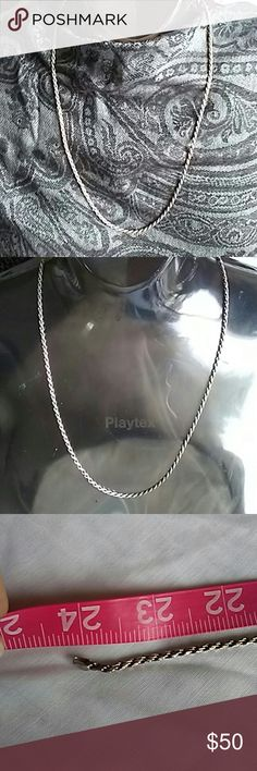 Unisex 925 Italian Silver Rope Chain. Approx. 2.5 mm. 925 Italian Silver Diamond-Cut Rope Chain. Jewelry Necklaces
