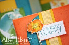 Happy Watercolor Stamp by Mail Sneak Peek starts February 15th 2014.  Created by Alisa Tilsner www.alisatilsner.com #happywatercolor #stampinup
