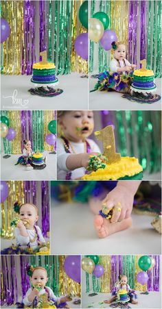 """use idea for high chair and get poster board to cut out letters """"one"""" in gold glitter for front September Birthday Parties, 1 Year Old Birthday Party, Blue Birthday, 1st Birthday Girls, First Birthday Parties, Birthday Celebration, Birthday Ideas, Mardi Gras Photos, First Birthday Pictures"""