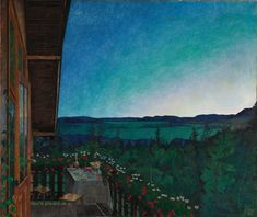 Summer Night, 1899 by Harald Oscar Sohlberg Art Print on Canvas Magnolia Box Size: Extra Large Dulwich Picture Gallery, Google Art Project, Galleries In London, Oil Painting Reproductions, Berg, National Museum, Summer Nights, Art Google, Framed Art Prints