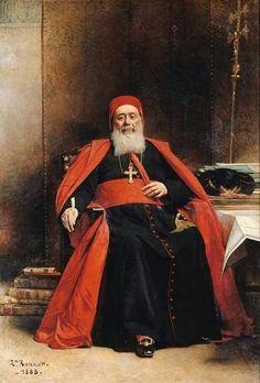 Le cardinal Charles Lavigerie by Leon Joseph Florentin Bonnat ( French ,1833-1922)