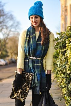 belted plaid scarf