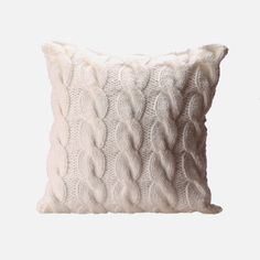 Add warmth and a sense of comfort to your living space with this Cable Knit Cushion Cover. Its design includes a richly textured, knitted front and a plain textile reverse – the perfect couch or bedroom accent. Fits a cushion inner (not included). Knitted Cushion Covers, Knitted Cushions, Winter Bedding, Poufs, My Room, Cable Knit, Decorative Accessories, Bedroom Decor, Throw Pillows