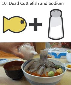Chemical Reaction: Dead Cuttlefish and Sodium