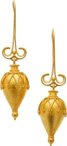 Gold Amphora Earrings