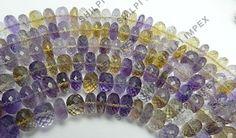 "Shining Gems! 1PC 10"" Ametrine 6X11-9X11mm rondelle facet gemstone beads strand #Shining Gems #Beads #NecklaceJewelry #BeadsJewelry #GemstoneJewelry #Gemstone #FacetedBeads #RoundBeads"