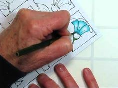 Coloring Technique Video - Color Pencils. Add dimension to line art drawings with color pencils. You can blend and mix colors easily using the simple coloring pencil art techniques in this video.