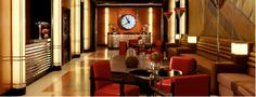 The lobby of the Chatwal Hotel in New York, a study in Art Deco glamour.