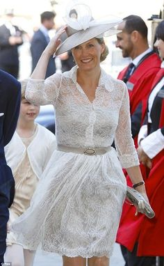 Sophie, Countess of Wessex is looking stunning in a Jane Taylor hat.