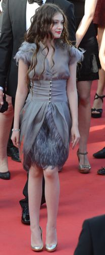 Chanel Feather Dress, Fall, somber tones