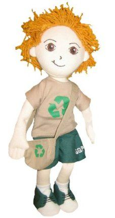 Global Green Pals Recycle Kyle by Global Green Pals. $25.39. Each doll comes with detailed and imaginative character tag printed on recycled paper, printed with soy based inks, that tells your Pal's story and offers kid-friendly green tips on how to help the Earth. Soft 12-inch dolls made of Oeko-Tex 100 certified organic cotton. Dolls are stuffed with 100 percent post-consumer recycled plastic PET bottle stuffing. Detailed embroidered faces, removable clothin...