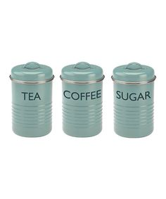 Love this Blue Canister - Set of Three on #zulily! #zulilyfinds