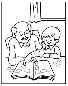 Kleurplaten Thema Familie.34 Beste Afbeeldingen Van Familie Kleurplaten