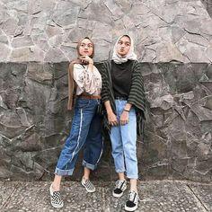 Modern Hijab Fashion, Street Hijab Fashion, Hijab Fashion Inspiration, Muslim Fashion, Casual Hijab Outfit, Hijab Chic, Casual Outfits, Fashion Outfits, Ootd Hijab