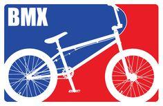 BMX Art Print- great font l think for theme
