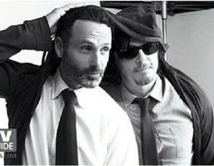 Andrew Lincoln And Norman Reedus Bromance Photo Gallery: 'The Walking Dead' Actors Celebrate Their Manly Love For Rick Grimes And Daryl Dixo...