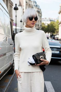 Style on the street at Paris fashion week