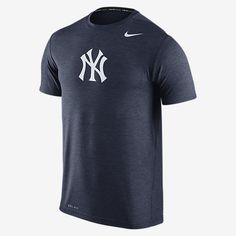 REPRESENT YOUR TEAM The Nike Dri-FIT Touch (MLB Yankees) Men's Training Shirt helps keep you comfortable and moving freely during a workout with lightweight Dri-FIT fabric and underarm insets. A club logo stands out in proud team colors, front and center. Benefits Dri-FIT fabric helps keep you dry and comfortable Underarm insets for wider range of motion Flat seams feel smooth on your skin Product Details Crew neck with interior taping Fabric: Dri-FIT 100% polyester Machine wash Imported