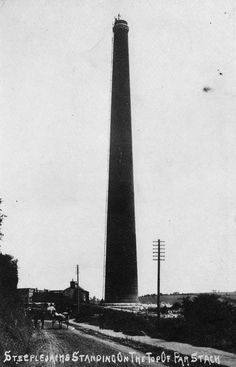 CORNWALL'S TALLEST STACK (1907): Par Stack, Par, Cornwall. 'It was struck by lightning causing damage that necessitated demolition.'     ✫ღ⊰n Engine House, China Clay, Cornwall England, Lightning Strikes, Medieval Castle, Engineer, Cn Tower, Devon, Abandoned