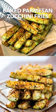 Baked Parmesan Zucchini Fries #health #fitness #nutrition #keto #ketogenic #ketosis #ketodiet #diet #food #reipe #weightloss #lowcarb Zuchinni Recipes, Healthy Chicken Recipes, Lunch Recipes, Healthy Dinner Recipes, Low Carb Recipes, Vegetarian Recipes, Healthy Lunch Ideas, Health Recipes, Baked Zucchini Recipes Healthy
