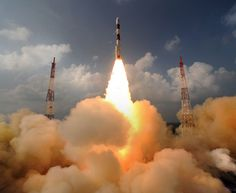 Clouds on the ground !  The sky seems inverted for a moment ! Blastoff of India's Mars Orbiter Mission (MOM) on Nov. 5