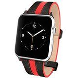 Apple Watch Pebble Leather Dual Material Band, Poetic [Premium Leather] Apple Watch Replacement BandNEW [Volante] - Premium Material Pebble Leather with Quilted Leather and Red Sport Stitching Design and Wide Band with Integrated Metal Clasp for Apple Watch 42mm, Apple Watch Bands, Pebbled Leather, Calf Leather, Apple Watch Replacement Bands, Apple Watch Accessories, Thing 1, Wearable Technology, Quilted Leather