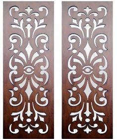 Home :: Interior Wall Art :: Timber Wall Art :: Set of 2 Kasbah Design Laser Cut Timber Art