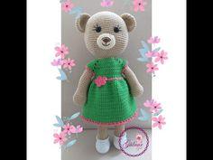 Crochet Bear, Crochet Toys, Teddy Bear, Dolls, Children, Angles, Animals, Dresses, Youtube
