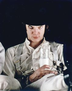 """Malcolm McDowell in """"Clockwork Orange"""", directed by Stanley Kubrick. Stanley Kubrick, Martin Scorsese, Great Films, Good Movies, Alfred Hitchcock, A Clockwork Orange, Fritz Lang, Cult Movies, Film Serie"""
