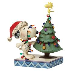 Peanuts Snoopy by Jim Shore 4045917 Tangled Up In Christmas Joy Snoopy