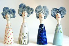 quirky ceramics - click now for more. Ceramic Clay, Ceramic Pottery, Pottery Art, Sculptures Céramiques, Sculpture Art, Clay Projects, Clay Crafts, 3d Figures, Ceramic Figures