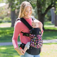 All Seasons Baby Carrier - Black with Owls