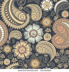 Seamless elegant paisley pattern-model for design of gift packs, patterns fabric, wallpaper, web sites, etc. - stock vector