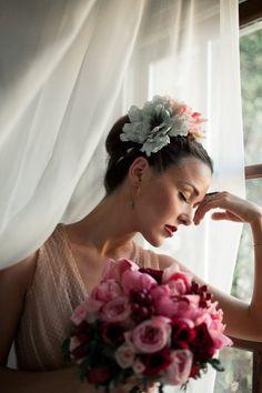 Frida Kahlo hand painted silk flowers