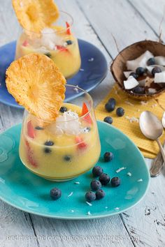 Pineapple coconut gazpacho with peach granita // feed me up before you go-go