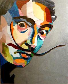 gab – Urlaub in Deutschland Mosaic Portrait, Portrait Art, Salvador Dali, New York Street Art, Canvas Painting Designs, Pop Art Images, Dali Paintings, Hippie Painting, Pop Art Posters