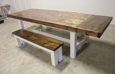 extendable farmhouse table. James+James Expandable Farmhouse Table. #PinItToWinIt #James+James Extendable Table N