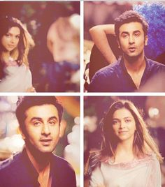 Image via We Heart It #bollywood #bunny #cute #kiss #romantic #deepikapadukone #ranbirkapoor #naina #lastscene #heyjawanihaideewani