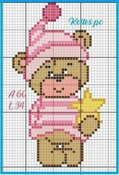 Free Cross Stitch Charts, Cross Stitch Baby, Fizzy Moon, Ancient Egyptian Art, C2c, Plastic Canvas, Pixel Art, Teddy Bear, Embroidery