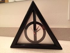 Deathly Hallows Clock by patty_o_furniture