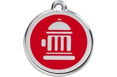 Red Dingo Custom Engraved Dog ID Tag  Fire Hydrant LargeRed *** Click on the image for additional details.