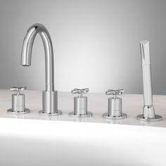 37 12 Sebastian Cross Handle Freestanding Tub Faucet Set Cross